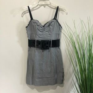 Guess jeans Size 1 belted stretch dress XS